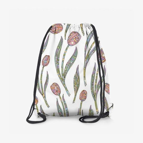 Рюкзак «Тюльпаны с орнаментом»
