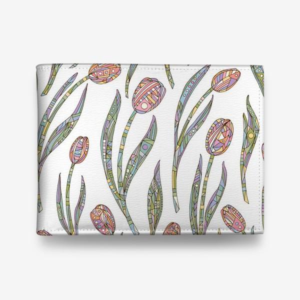 Кошелек «Тюльпаны с орнаментом»