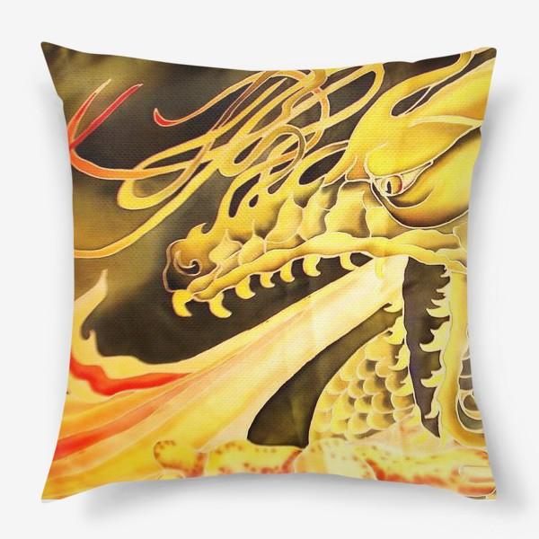 Подушка «Зеленый дракон »
