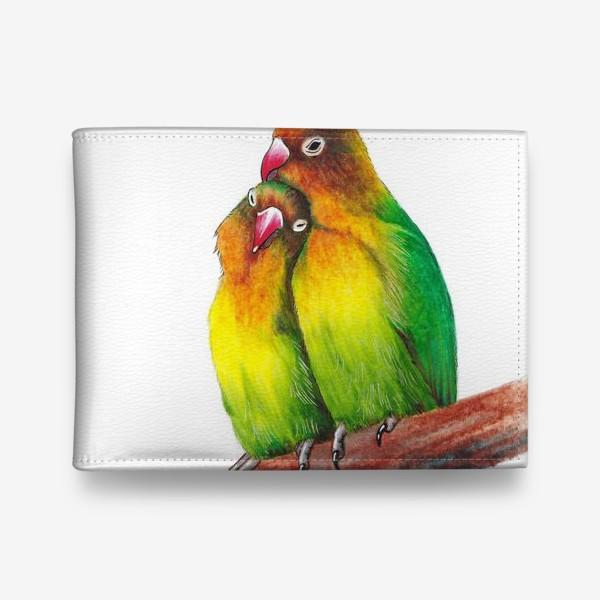 Кошелек «Попугаи-неразлучники»