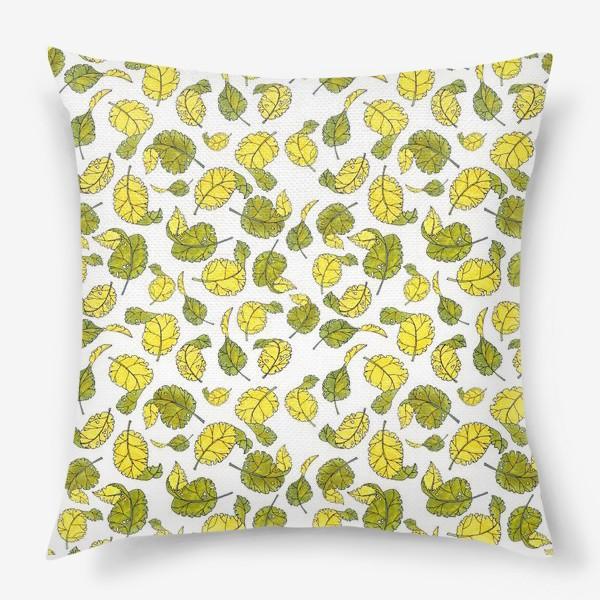 Подушка «Весенние листья»