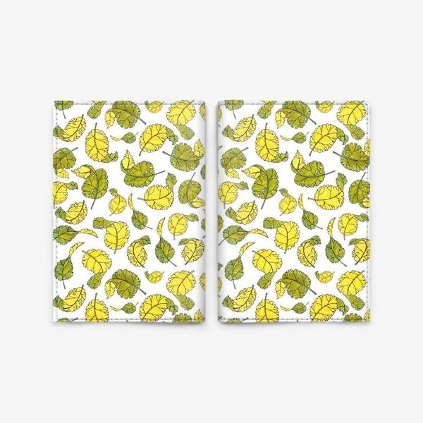 Обложка для паспорта «Весенние листья»