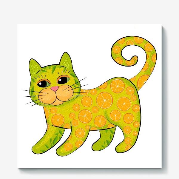 Холст «Апельсиновый кот»