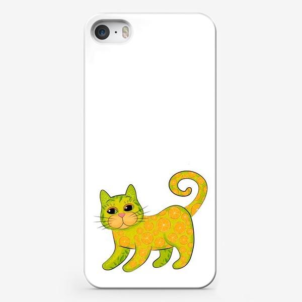 Чехол iPhone «Апельсиновый кот»