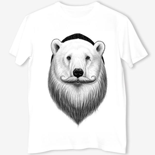 Футболка «Полярный Медведь хипстер»