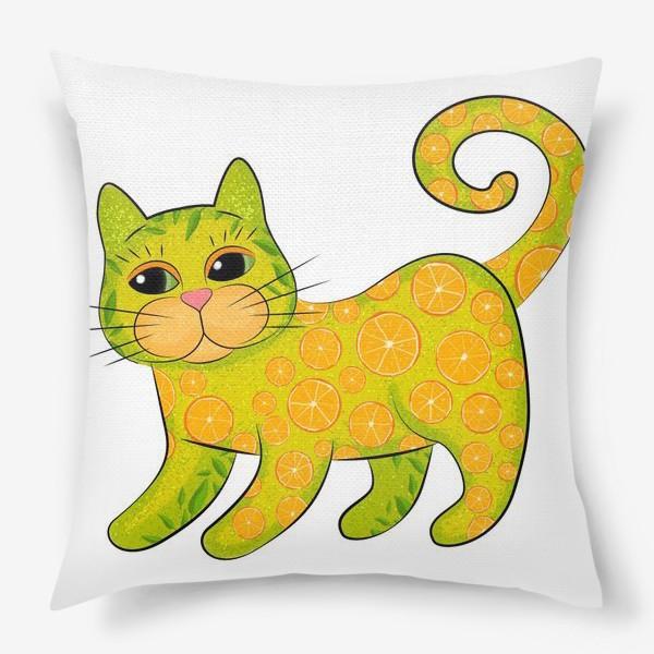 Подушка «Апельсиновый кот»