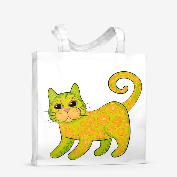 Сумка-шоппер «Апельсиновый кот»