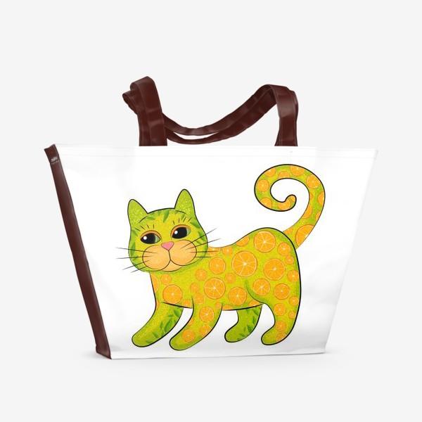 Пляжная сумка «Апельсиновый кот»