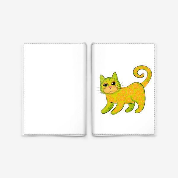 Обложка для паспорта «Апельсиновый кот»