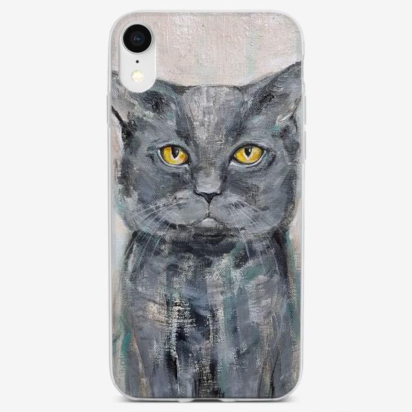 Чехол iPhone «Кот британец»