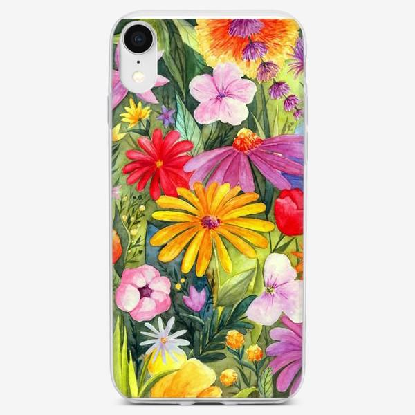 Чехол iPhone «Цветы акварель»