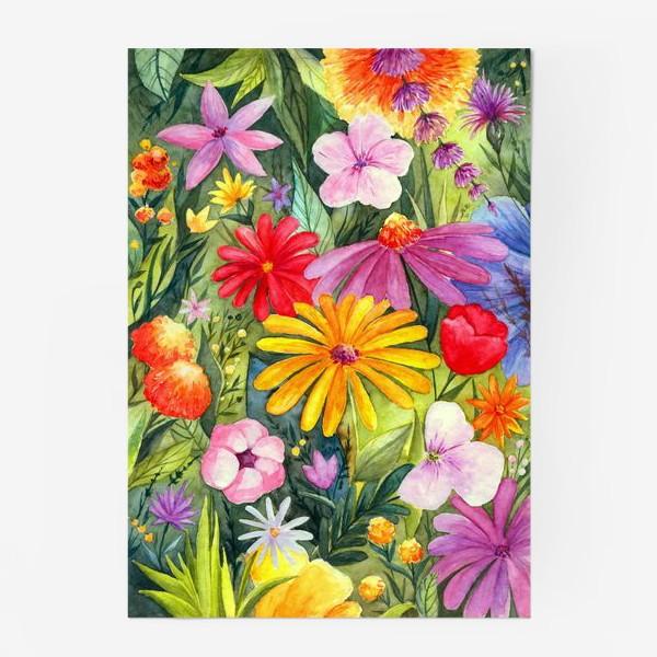 Постер «Цветы акварель»