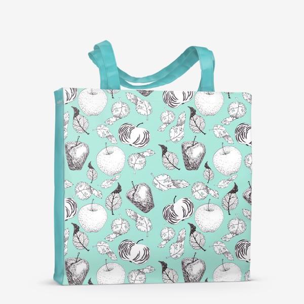 Сумка-шоппер «Яблоки и листья»