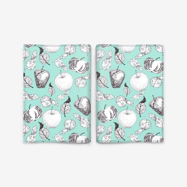 Обложка для паспорта «Яблоки и листья»