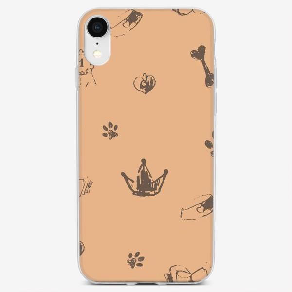 Чехол iPhone «Выставка собак паттерн»