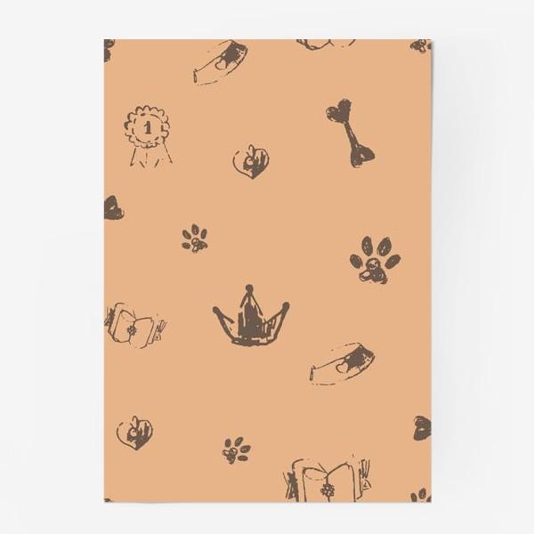 Постер «Выставка собак паттерн»