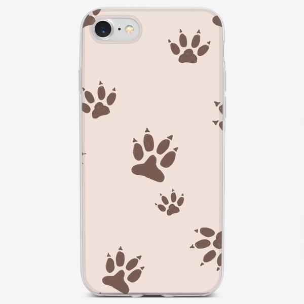 Чехол iPhone «Лапки паттерн»