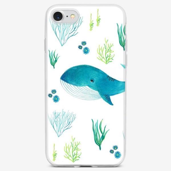 Чехол iPhone «Милый кит»