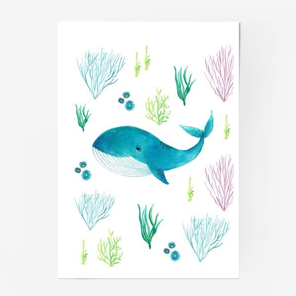 Постер «Милый кит»