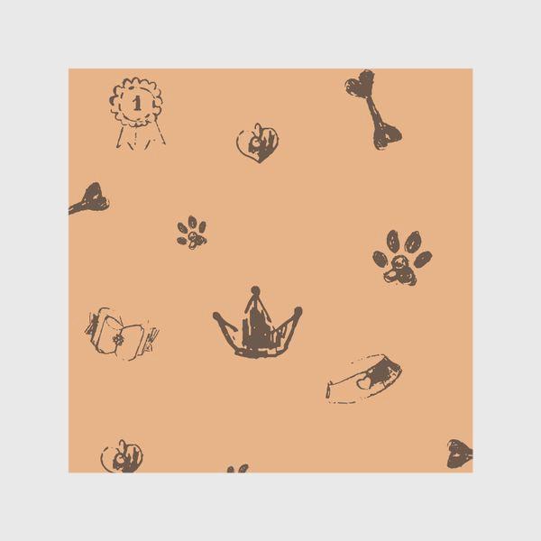 Шторы «Выставка собак паттерн»