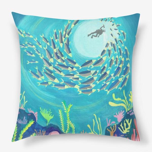 Подушка «Морское дно»