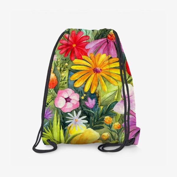 Рюкзак «Цветы акварель»