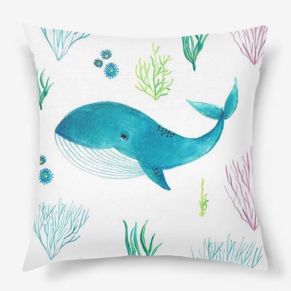 Подушка «Милый кит»
