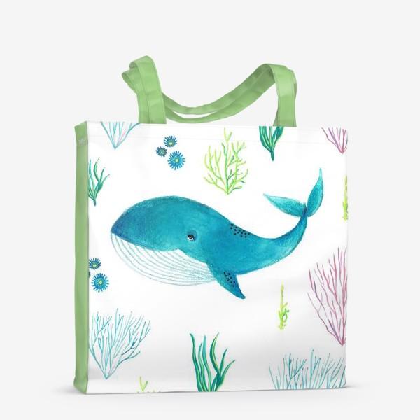 Сумка-шоппер «Милый кит»