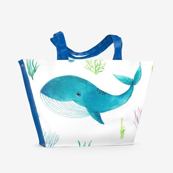 Пляжная сумка «Милый кит»
