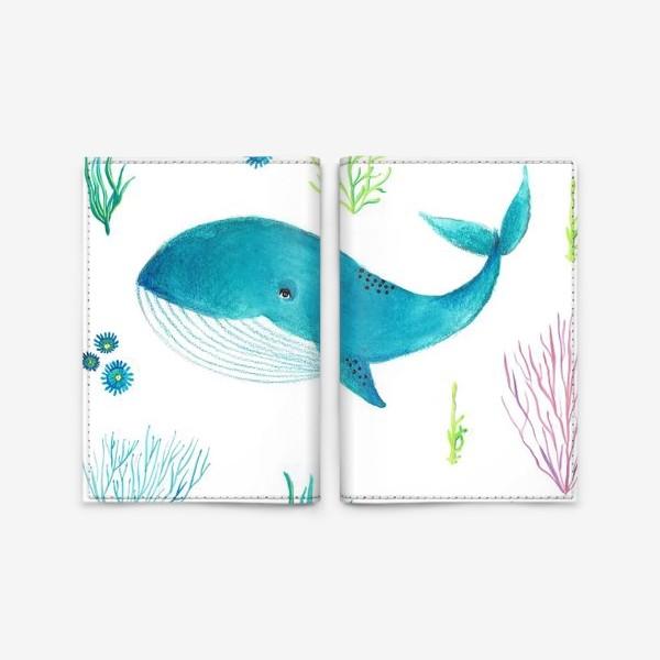 Обложка для паспорта «Милый кит»