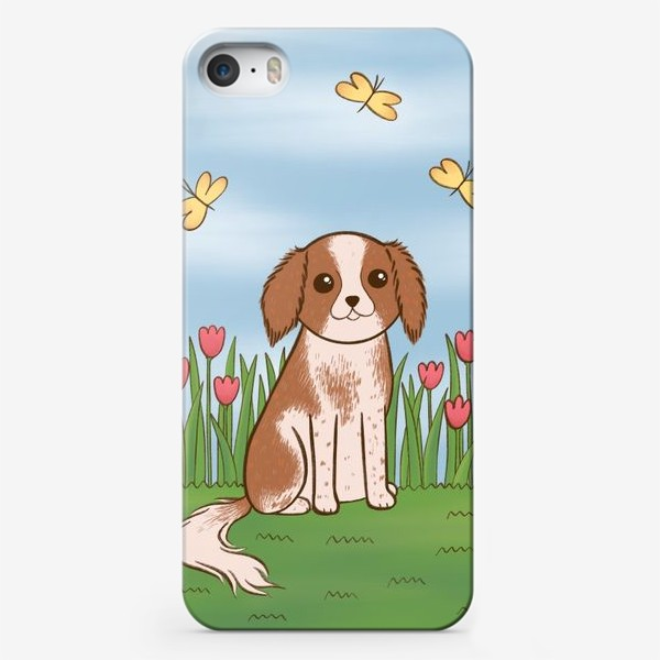 Чехол iPhone «Весенний Кинг Чарльз Спаниель»