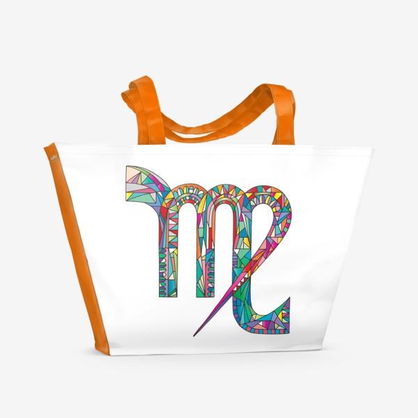 Пляжная сумка «Знак зодиака ДЕВА»