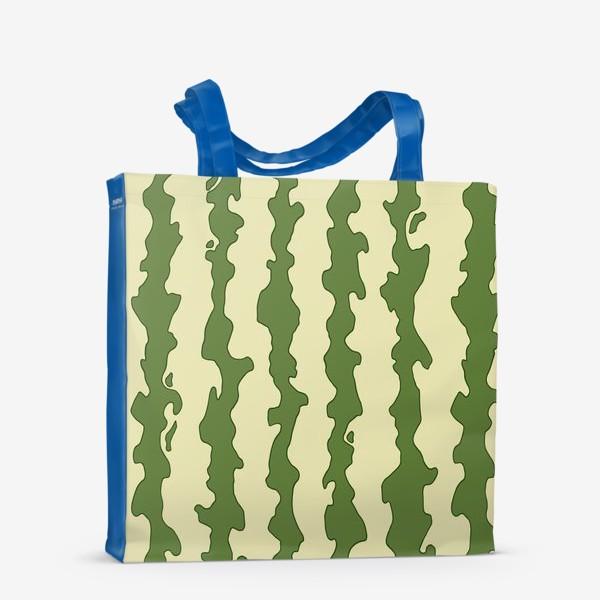 Сумка-шоппер «Полоски арбуза паттерн»