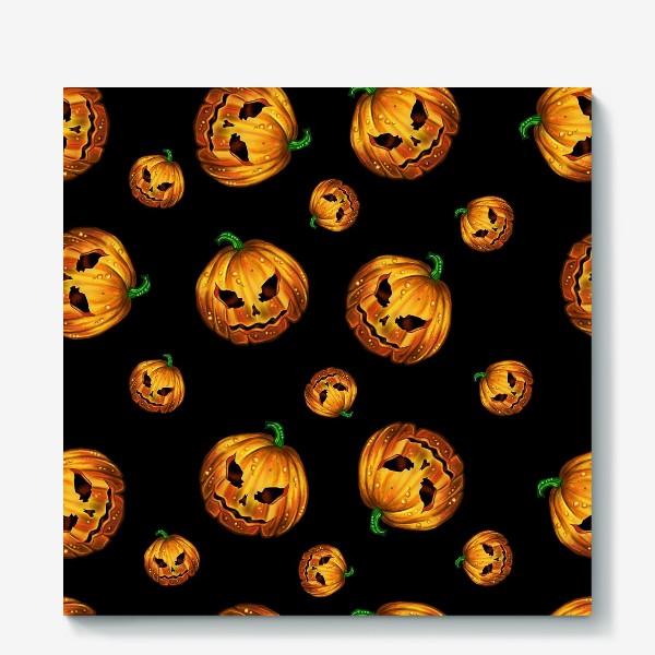 Холст «Хэллоуинский паттерн»