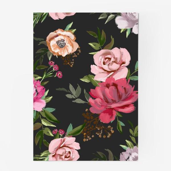 Постер «Цветочный паттерн»