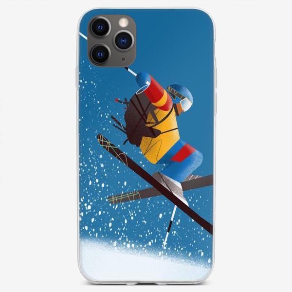 Чехол iPhone «Горные лыжи»
