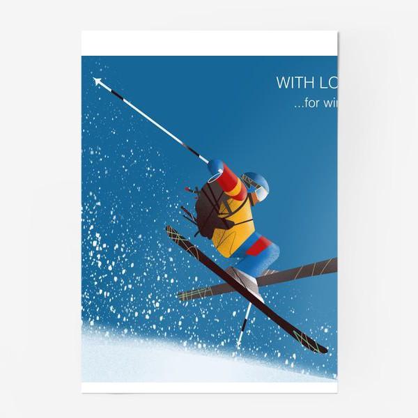 Постер «Горные лыжи»