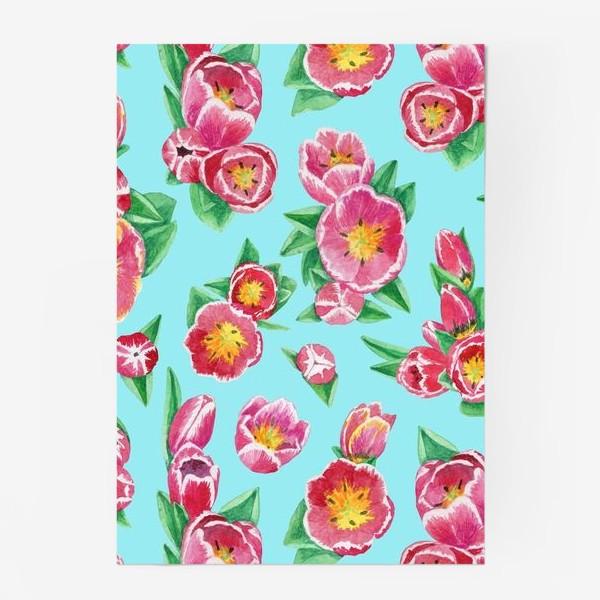 Постер «Тюльпаны на небесно-голубом»