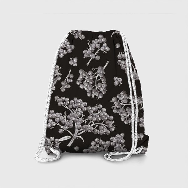 Рюкзак «Спелая бузина на темном фоне»