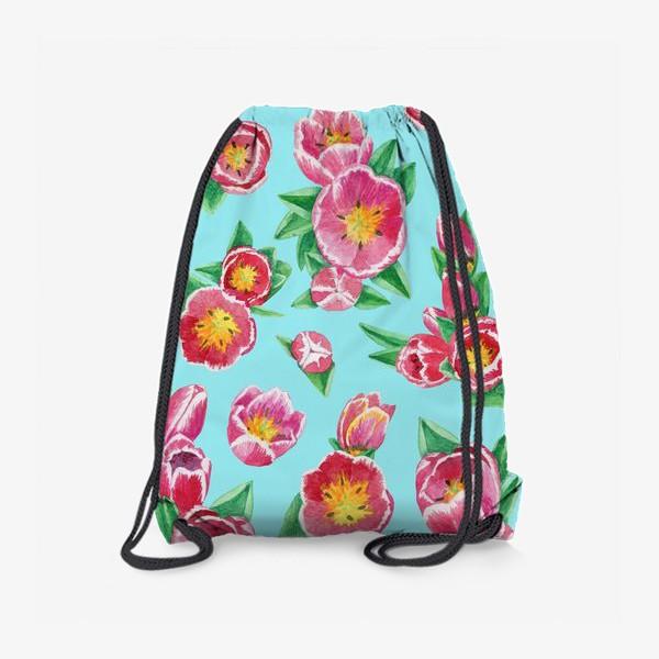 Рюкзак «Тюльпаны на небесно-голубом»