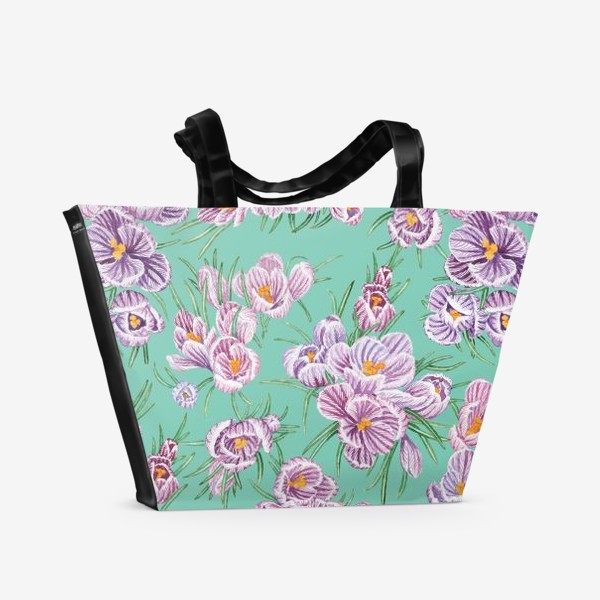 Пляжная сумка «Крокусы на тиффани»