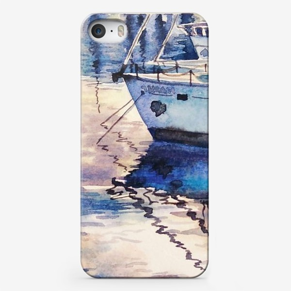 Чехол iPhone «Яхта у причала»