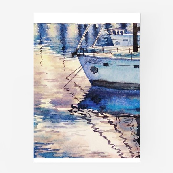 Постер «Яхта у причала»