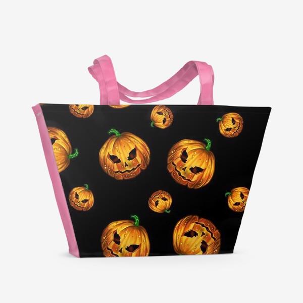 Пляжная сумка «Хэллоуинский паттерн»