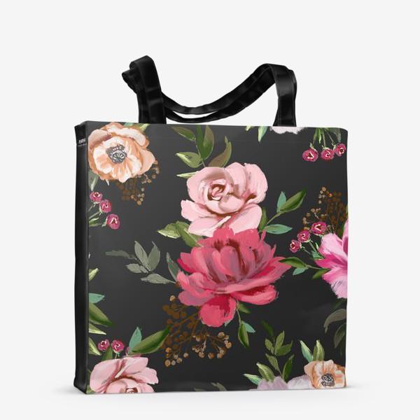 Сумка-шоппер «Цветочный паттерн»
