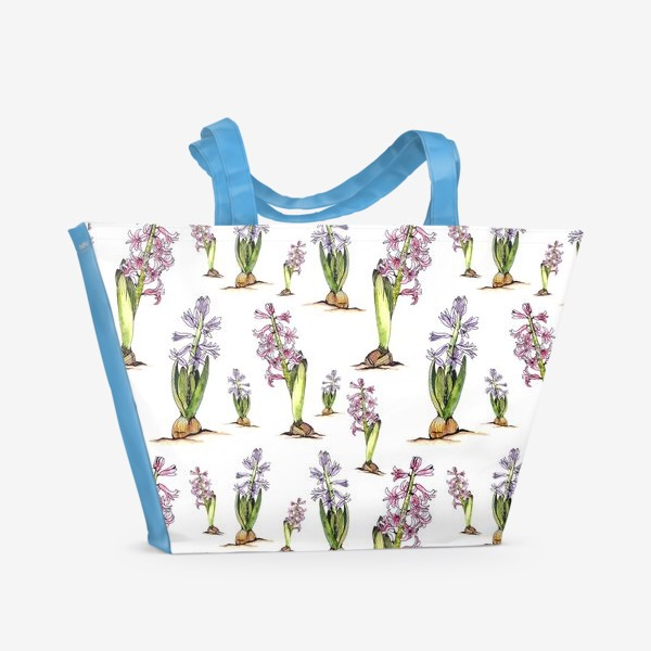 Пляжная сумка «Гиацинты»