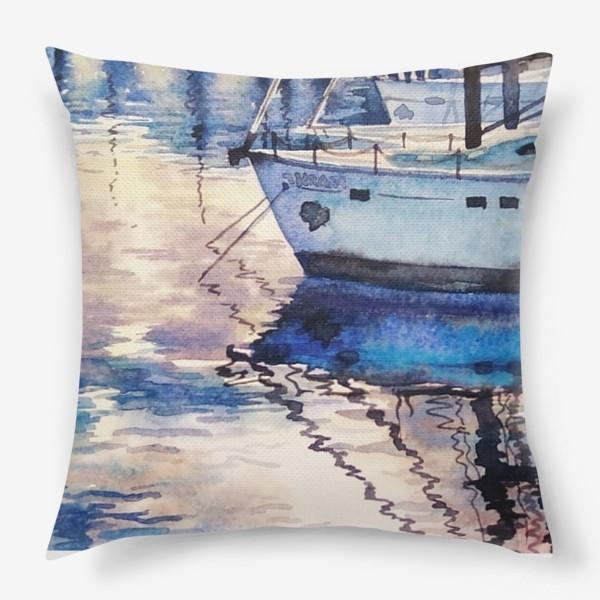 Подушка «Яхта у причала»