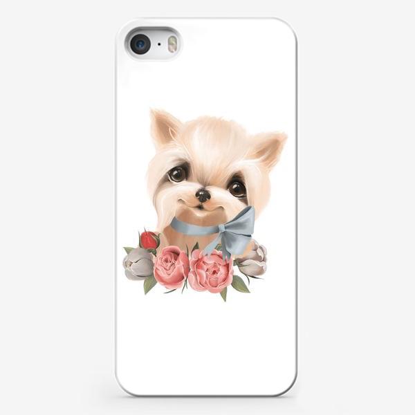 Чехол iPhone «Йорк с бантиком»