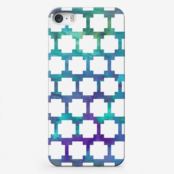 Чехол iPhone «узор крестиком на акварельном фоне»