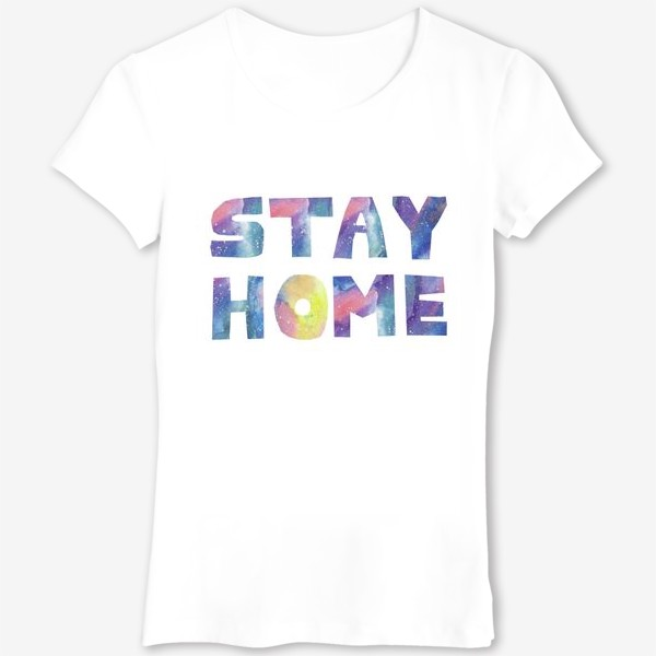 Футболка «Оставайся дома!КОРОНАВИРУС»